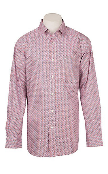 Geo Print Long Sleeve Western Shirt By Ariat