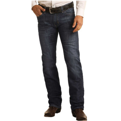 Rock & Roll Cowboy Denim Slim Fit ReFlex Revolver Straight Leg Men's Jeans