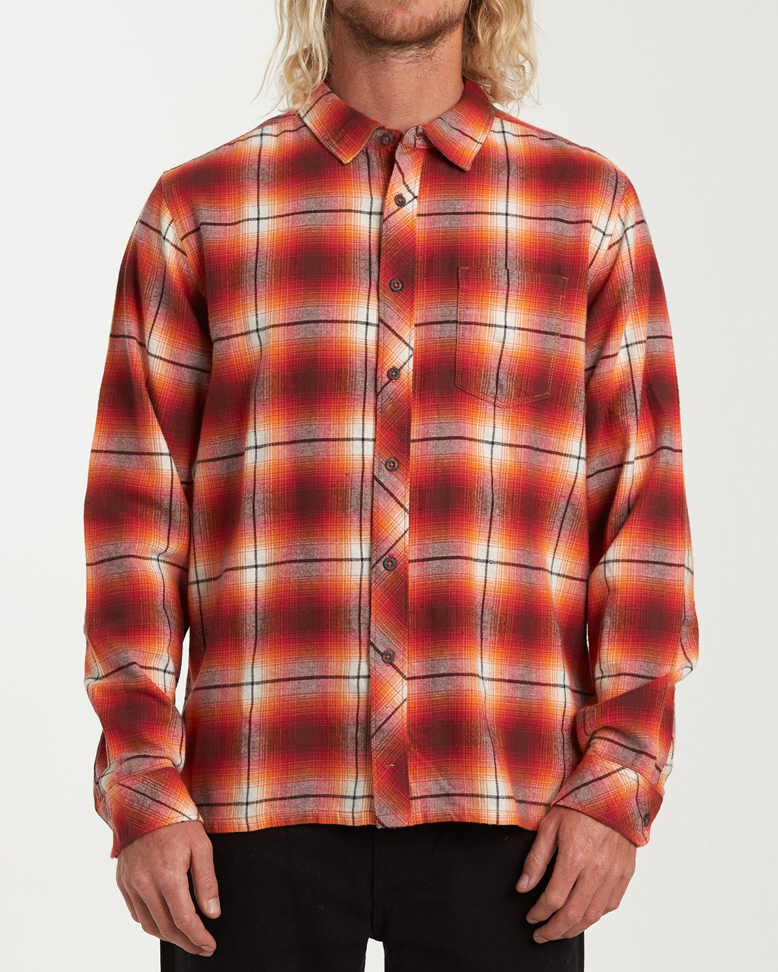 Billabong Red Coastline Men's Flannel