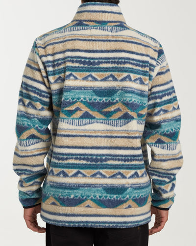 Billabong Blue Boundary Mock Men's Pullover