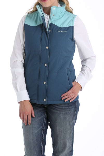 Cinch Blue Quilted Canvas Women's Vest