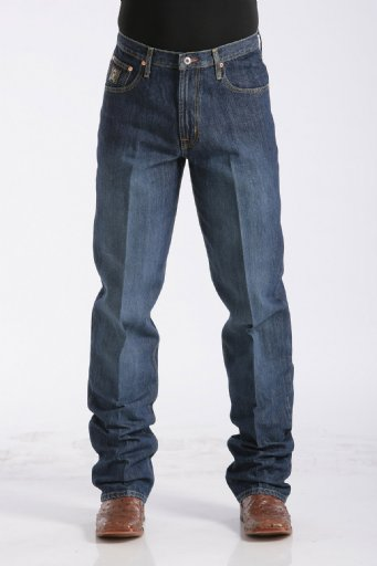 Men's Black Label Dark Stonewash Relaxed Fit Jeans by Cinch
