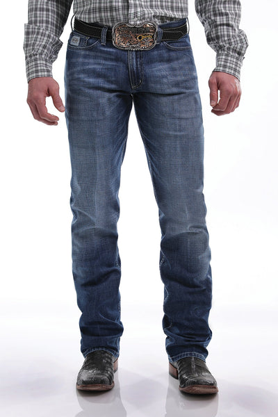 Cinch Men's Silver Label Slim Fit Medium Stonewash Jeans