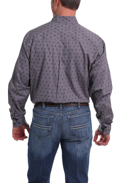 Cinch Cactus Print Long Sleeve Shirt