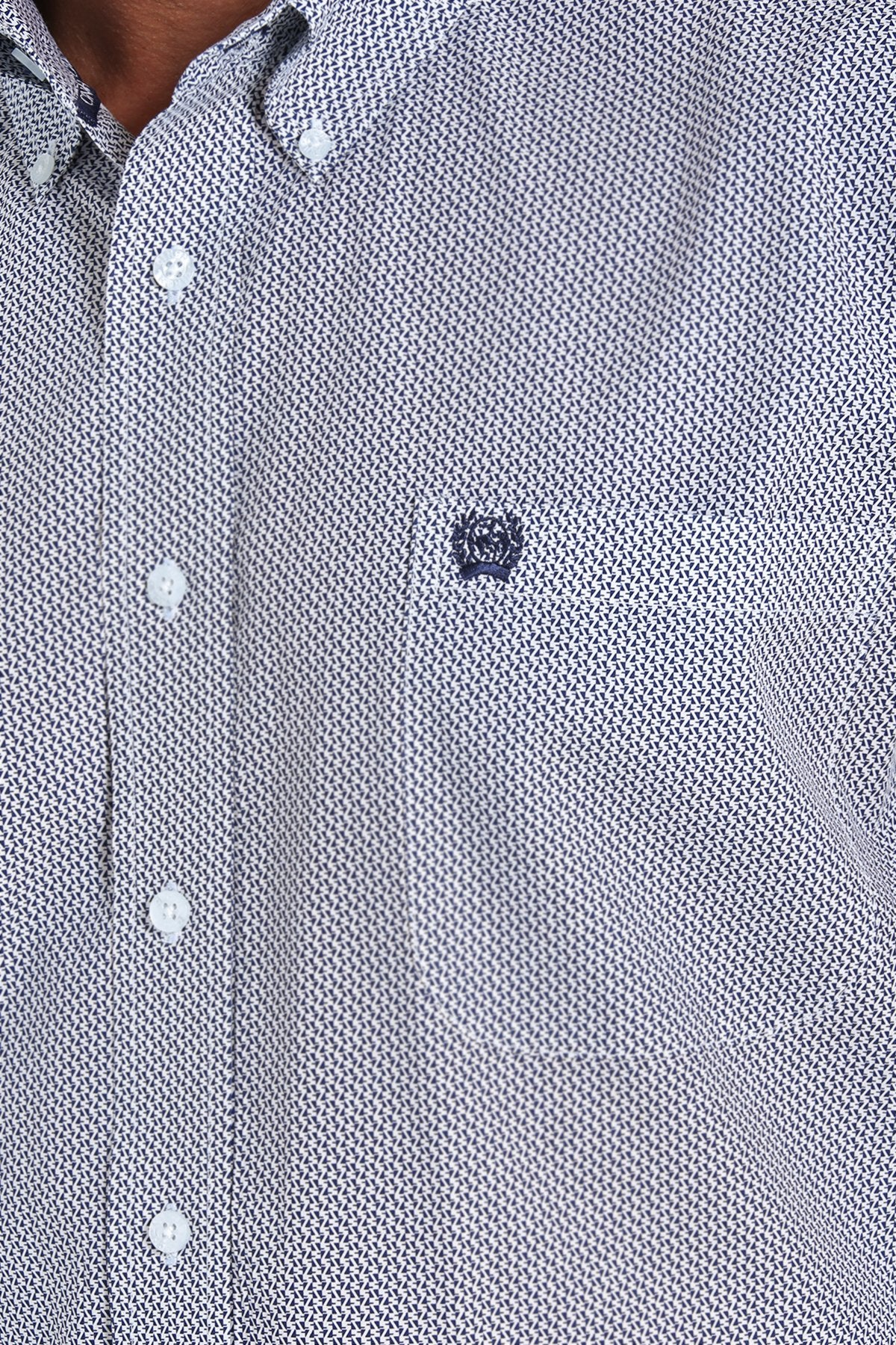 Cinch Navy Print Men's Button Down Shirt