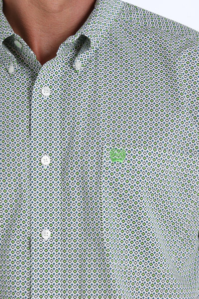 Cinch Geometric Print Men's Button Down Shirt