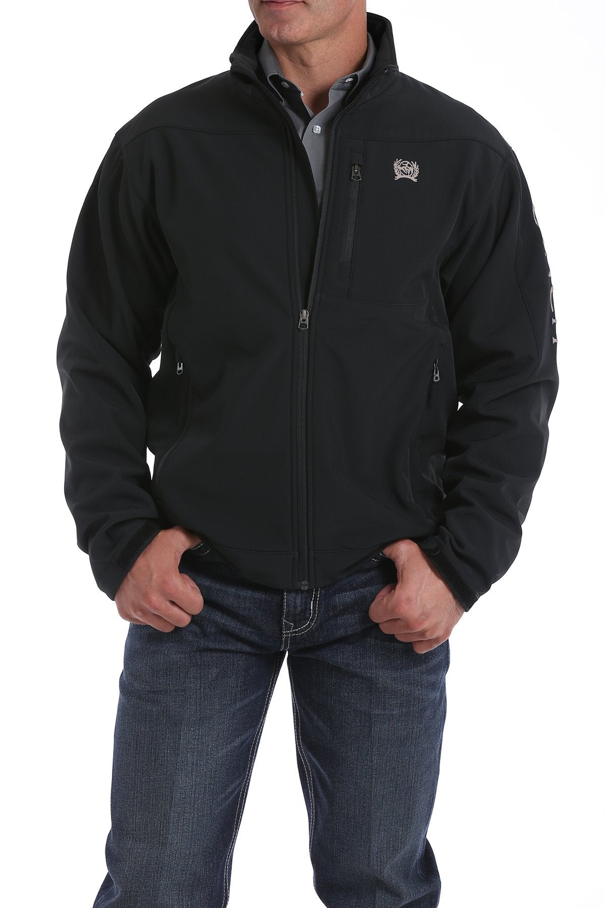 Cinch Black and Gold Bonded Men's Jacket