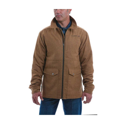 Cinch Men's 3/4 Length Wool Blend Jacket - Brown