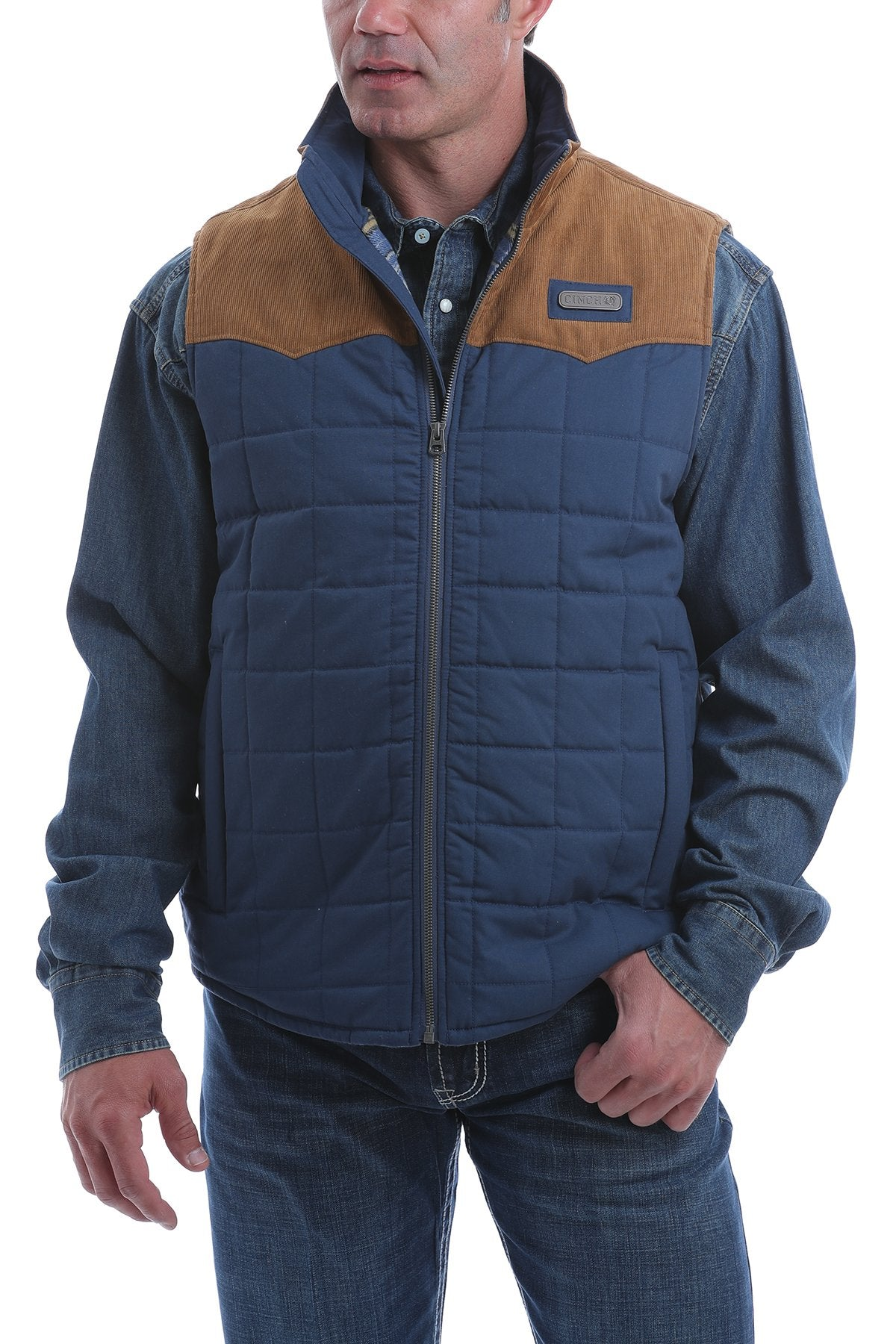 Cinch Men's Quilted Polyfill Puffer Vest - Blue