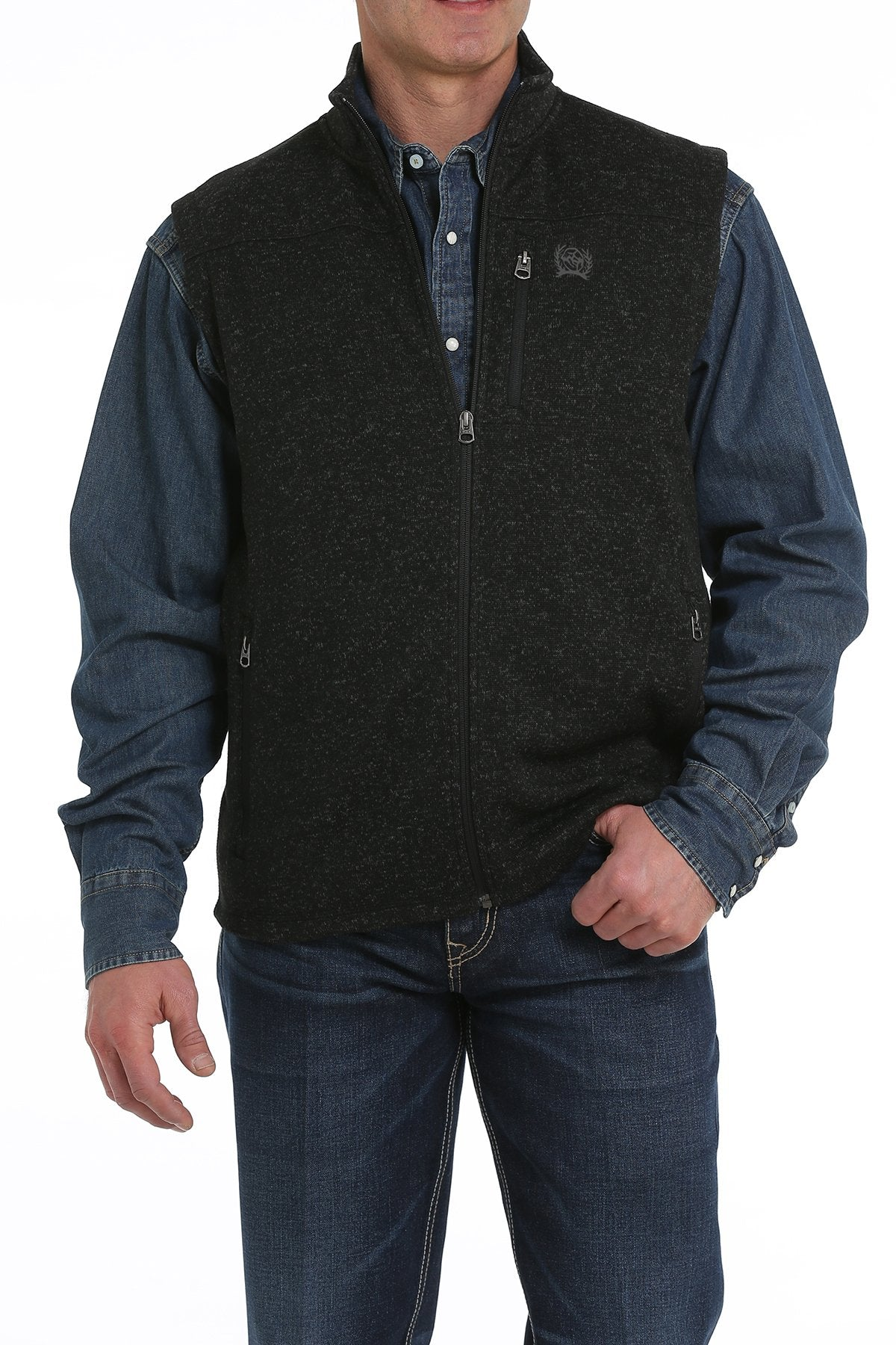 Cinch Men's Sweater Knit Fleece Vest
