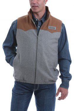 Cinch Men's Concealed Carry Wool Blanket Vest - Multi Color Blocked