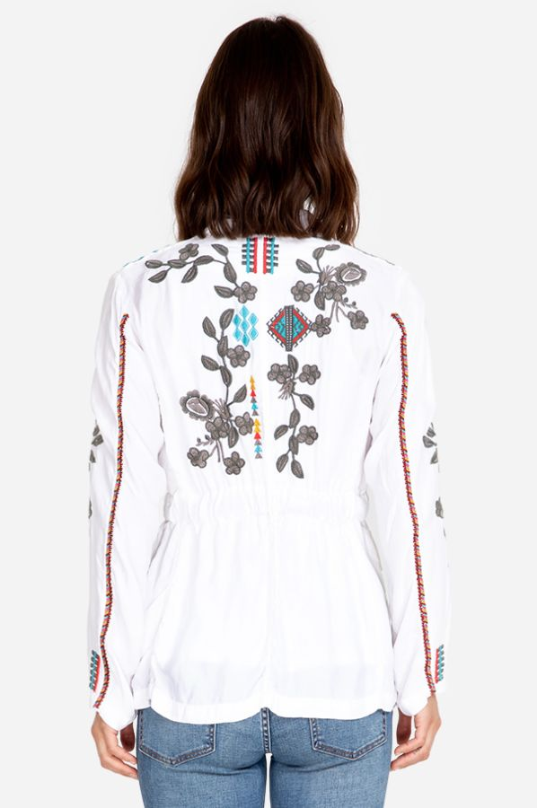 Johnny Was Milton Cupra Embroidered Jacket
