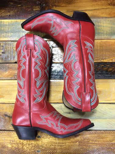 Women's Red Sophia Justin Boots