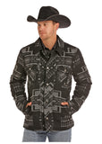 Men's LS Jacquard Wool Coat by Panhandle Slim