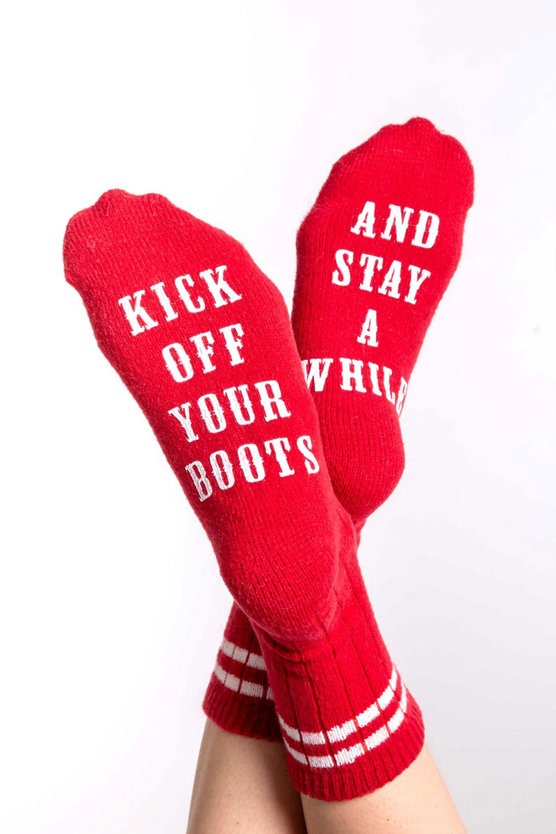 PJ Salvage Kick Off Your Boots Gift Socks