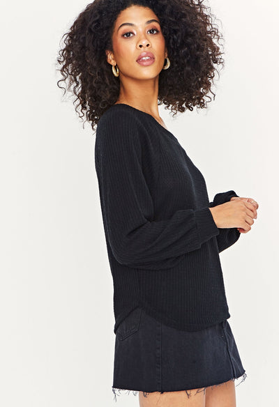 Project Social T One Way Cozy Black Women's Off Shoulder