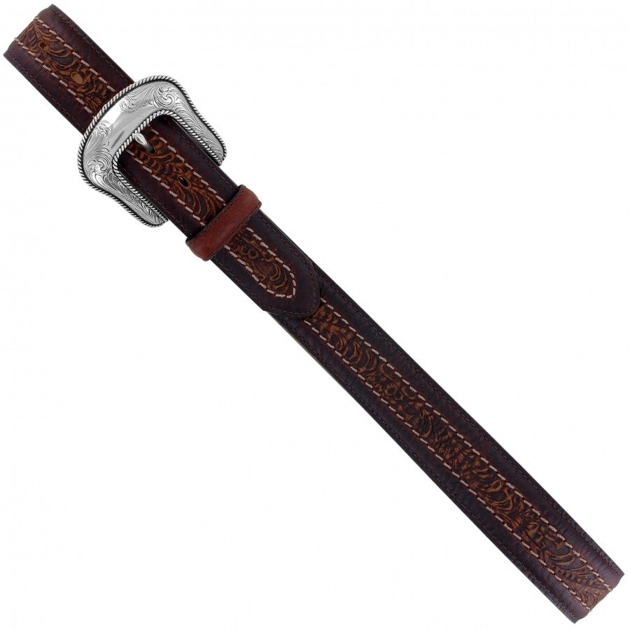 Justin Sheridan Tooled Men's Leather Belt