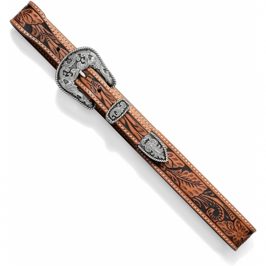 "Men's Tooled Mesa Vine 1 1/2"" Tapered Belt"