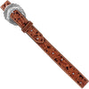 "Women's Tooled Tan 1 1/2"" Jolen Belt"