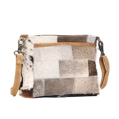 Mixed Cowhide Purse