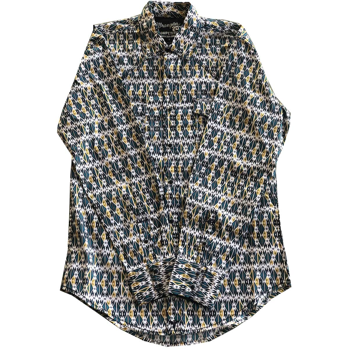 Wrangler Men's Aztec Print  Long Sleeve Shirt
