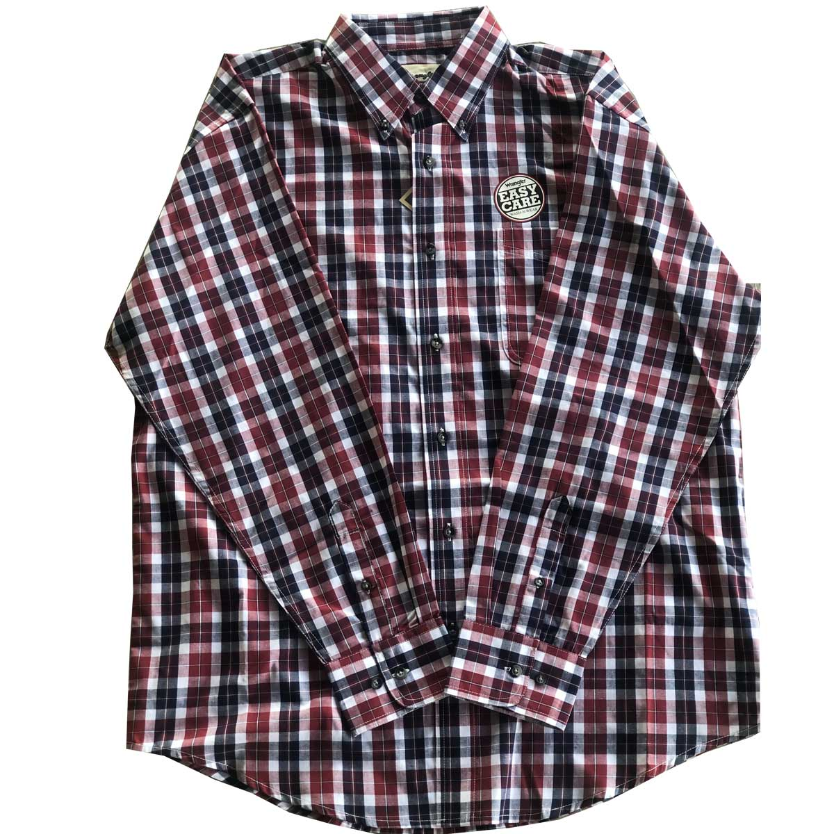 Wrangler Men's Long Sleeve Plaid Button Down Shirt - Red/Black