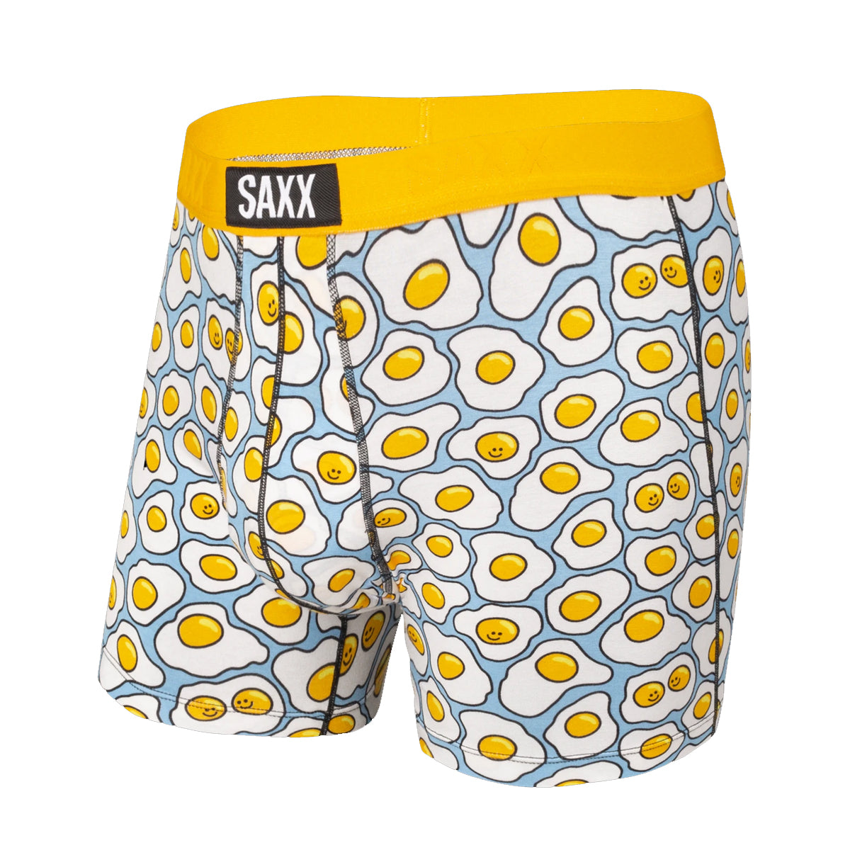 Saxx Men's Vibe Boxer Briefs - Yellow Tgi-Fried Egg