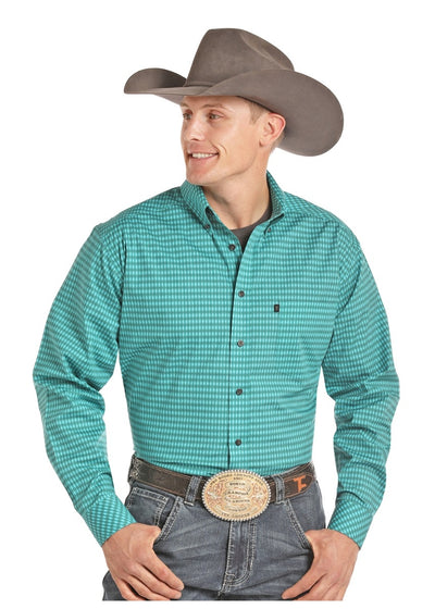 Panhandle Tuf Cooper Stretch Poplin Long Sleeve Button Down Shirt