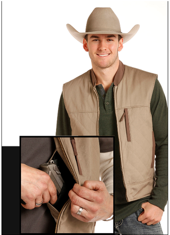Men's Tan Vest Concealed Carry Panhandle