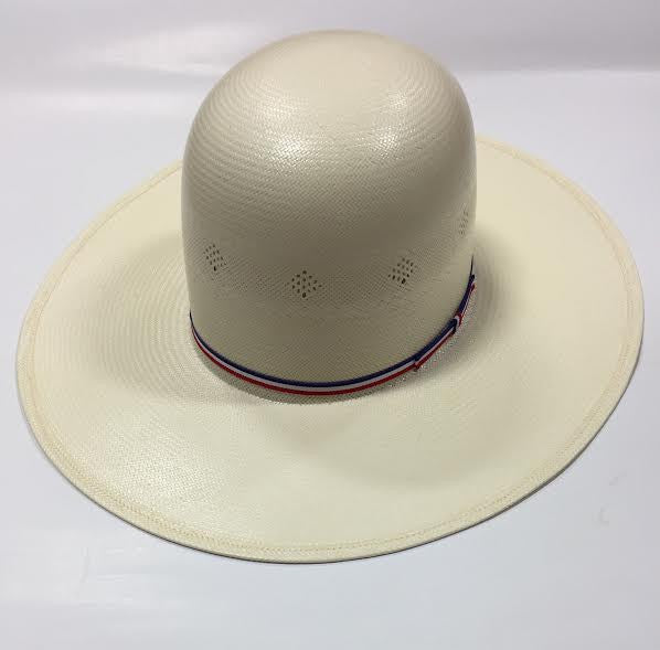 "Red White and Blue 4 1/4"" Straw Hat by American Hat Co."