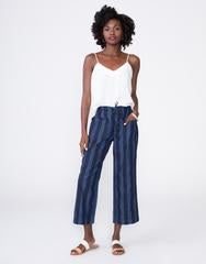 Unpublished Navy Striped Women's Cropped Pant