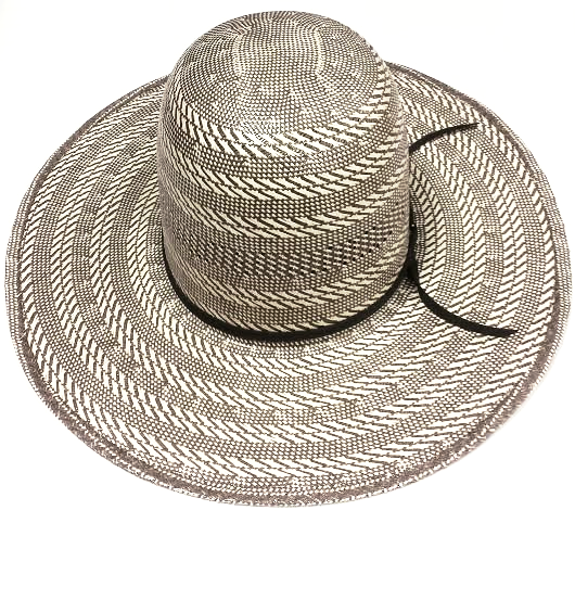 Steel Gray 4 1/4'' Brim Straw Hat by American Hat Co.