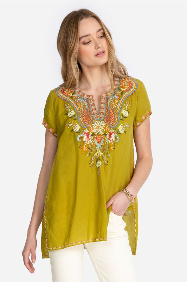 Johnny Was Tikal Swing Blouse