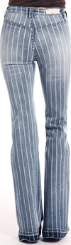Rock & Roll Light Wash Striped Women's Jean