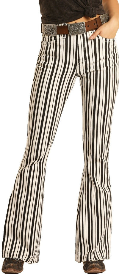 Panhandle Women's High Rise Stripe Jeans