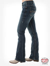 Cowgirl Tuff Don't Fence Me In Dark Bootcut Women's Jean