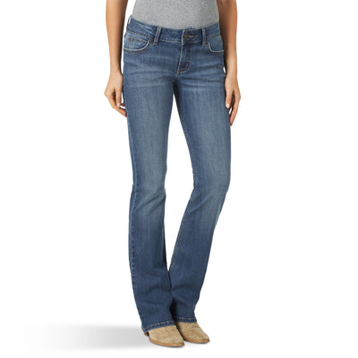 Wrangler Women's Mid Rise Boot Cut Essentials Jeans - Kinsley