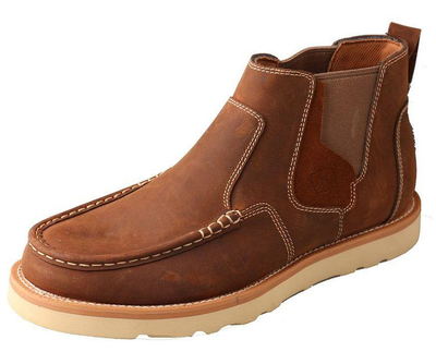 Men's Casual Oiled Brown Moccasin Pull-On Shoe by Twisted X