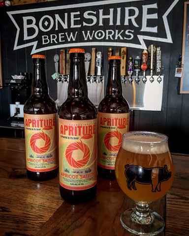 Apriture Saison by Poured in PA and Boneshire Brew Works