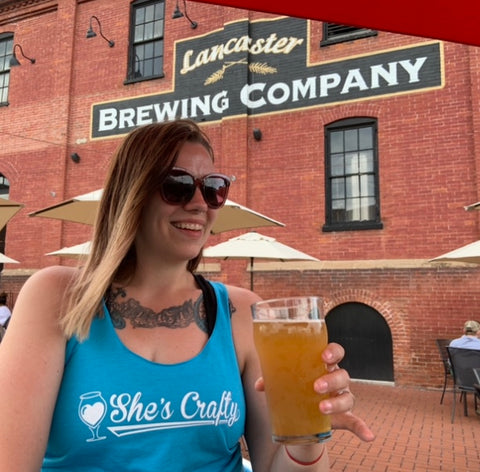 She's Crafty Tank Top at Lancaster Brewing Co