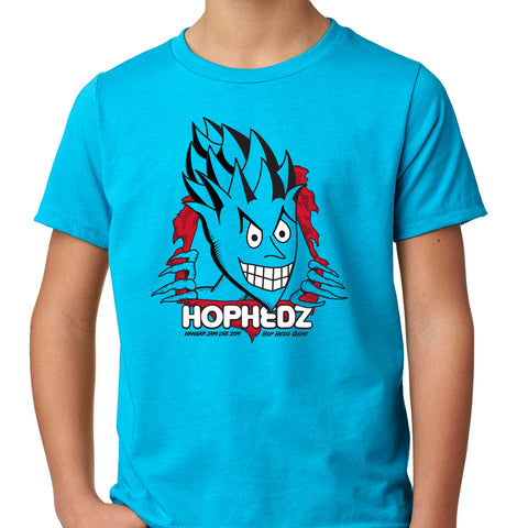 Hop Hedz Rip Tee - YOUTH - Turquoise