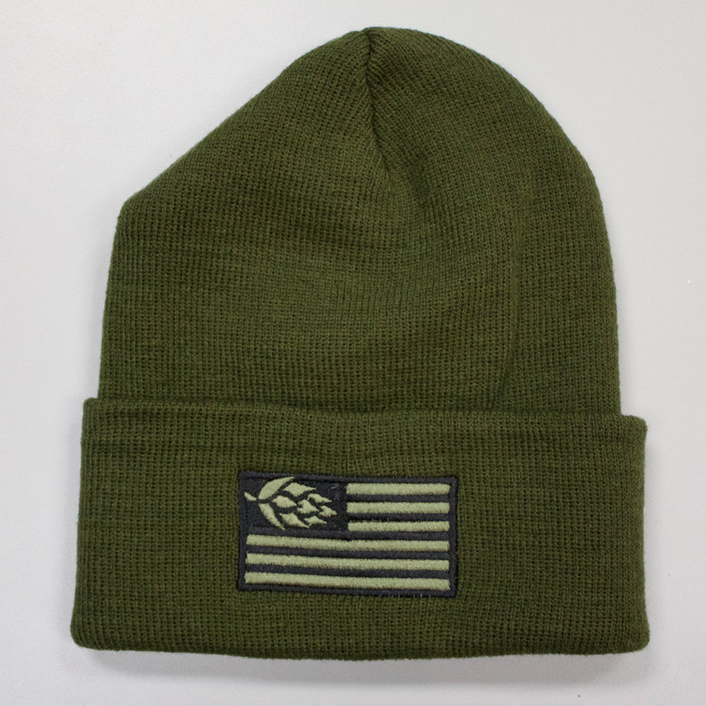 Hops Nation Beanie Army Green