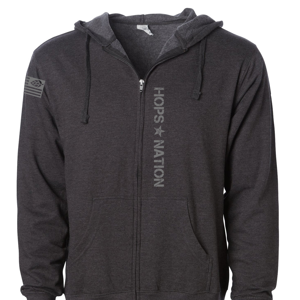 INDEPENDENT Hops Nation Military Charcoal Zip Hood