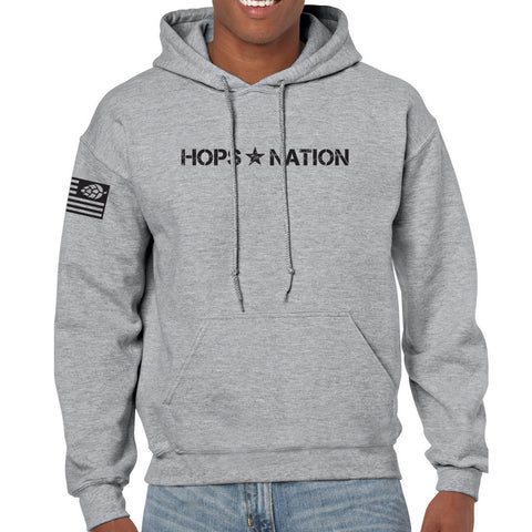 Hops Nation Military Sport Grey Hood