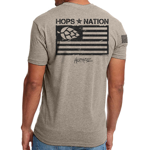 Hops Nation Tee - Stone Grey