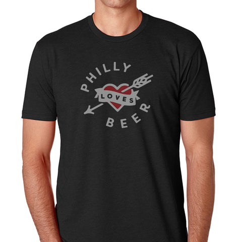 Philly Loves Beer - Mens TShirt