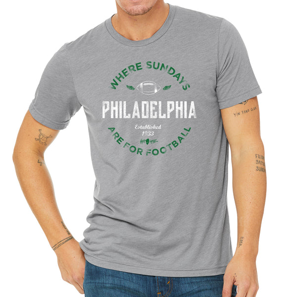 Philly Sunday Football Grey Tri-Blend