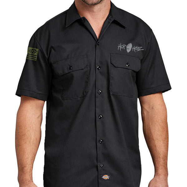 USA Hops Skull Dickies Workshirts