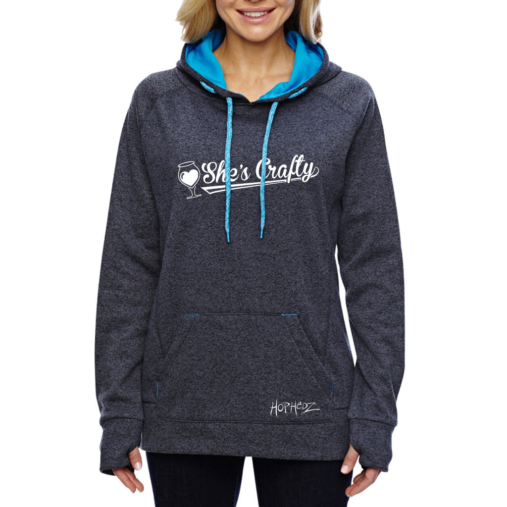 She's Crafty Contrast Sport Hoodie