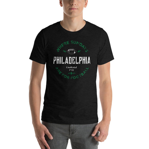 Philly Sunday Football Black Tee